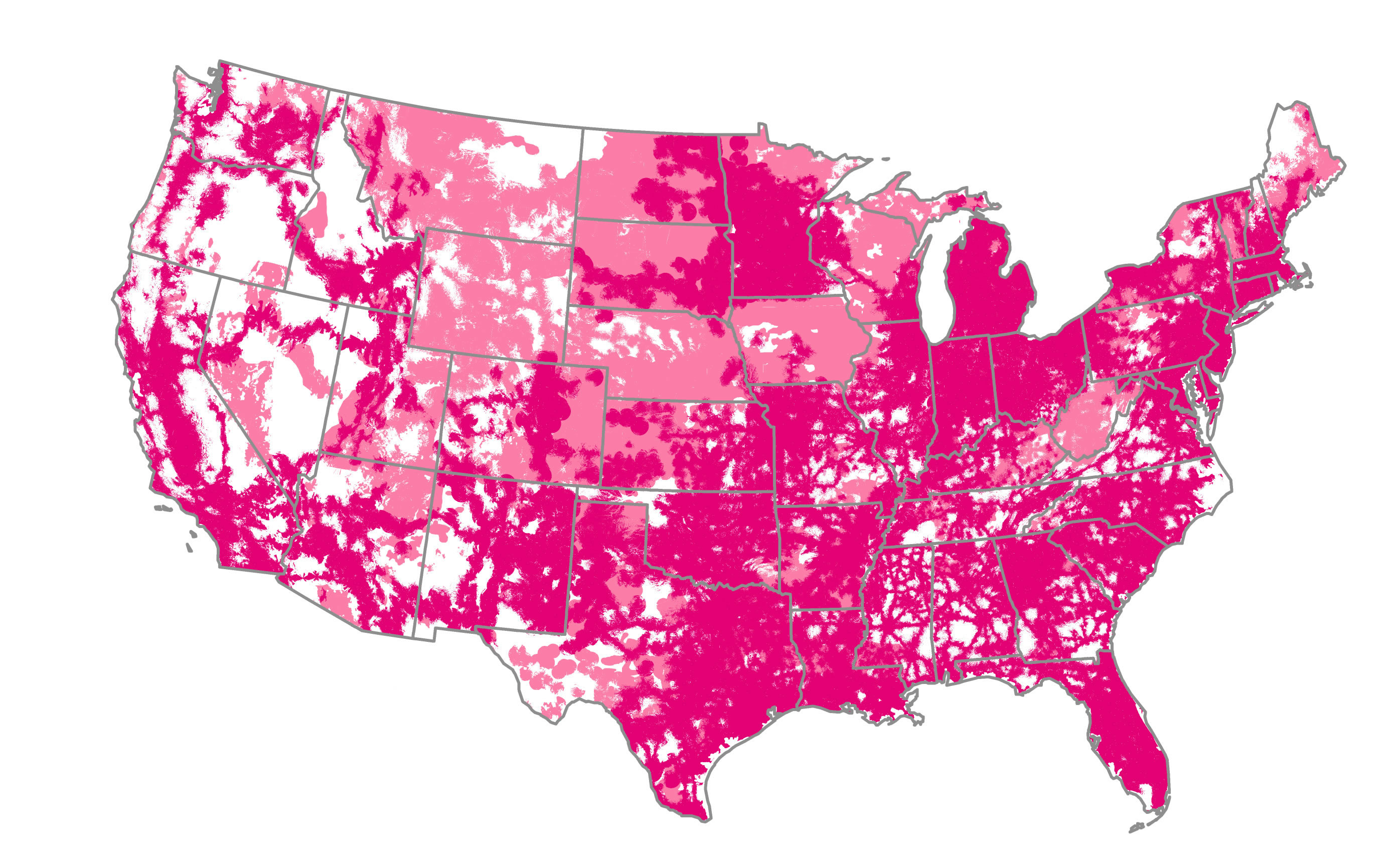 4g lte coverage map